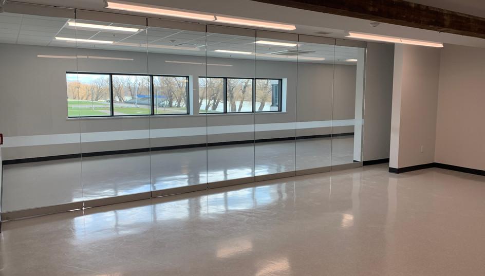 Board Room Behind Glass Wall