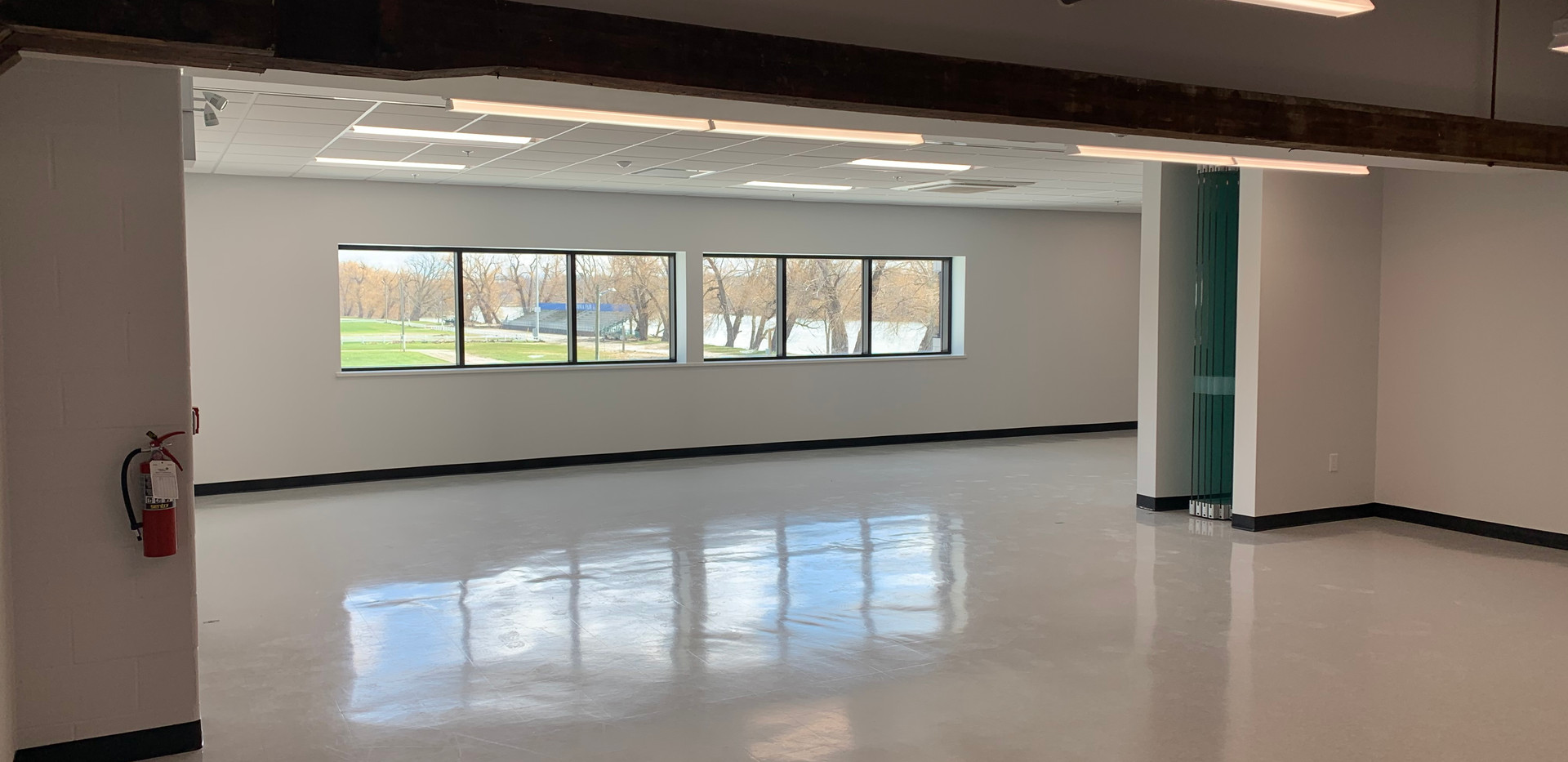 Board Room with Glass Wall Down