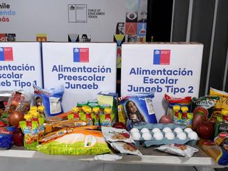 CON NORMALIDAD SE ENTREGA SEXTA CANASTA ALIMENTOS DE JUNAEB