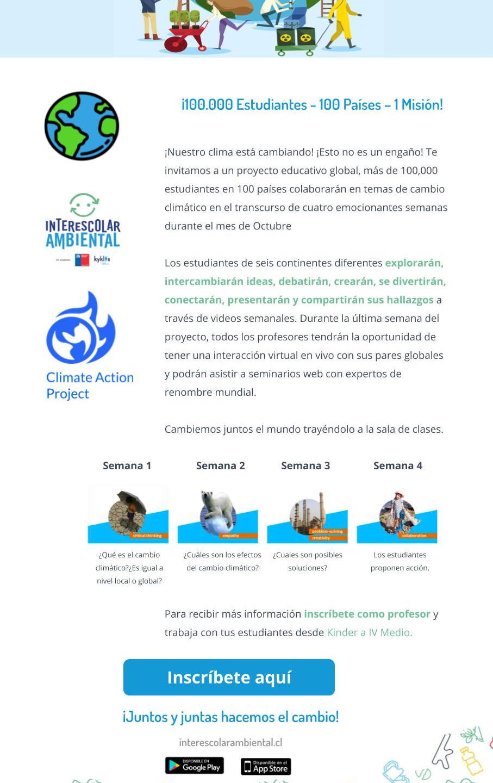 2020_Interescolar Medioambiental_Climate