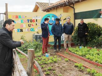 """En Escuela Ema Cornejo: ALCALDE RIVERA RECONOCIÓ LOGROS DEL PROYECTO """"VIVEROS ESCOLARES"""""""