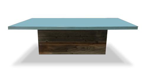 Blue Ice Plank Coffee Table