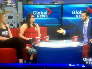 Belle and Tron on Global News