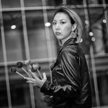 Female percussionist photo session