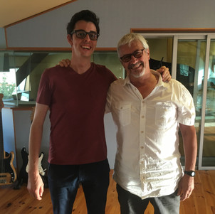 With sound engineer Fred Betin - Studio 26, Antibes