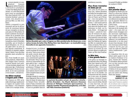 Interview in Nice Matin