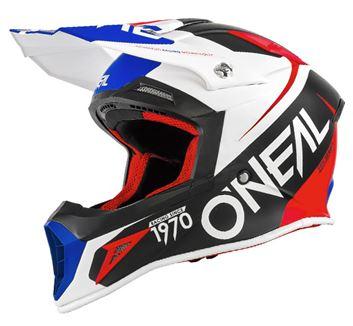 ONEAL18 10 SRS FLOW MATT BLU/RED