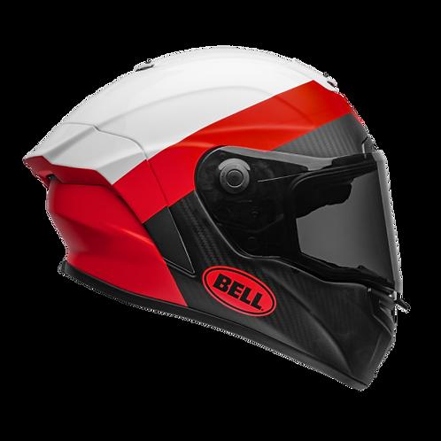 Bell Racestar Surge Helmet - Matte/Gloss White/Red