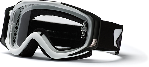 SMITH FUEL V.2 WHITE--CLEAR AFC LENS INCL ROLL-OFFS AND GOGGLE BAG