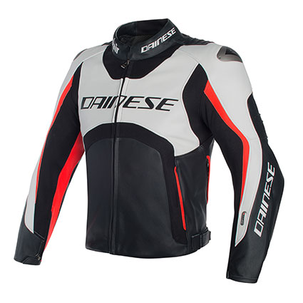 DAINESE MISANO D-AIR JKT I96 WHT/BLK/FLUO-RED