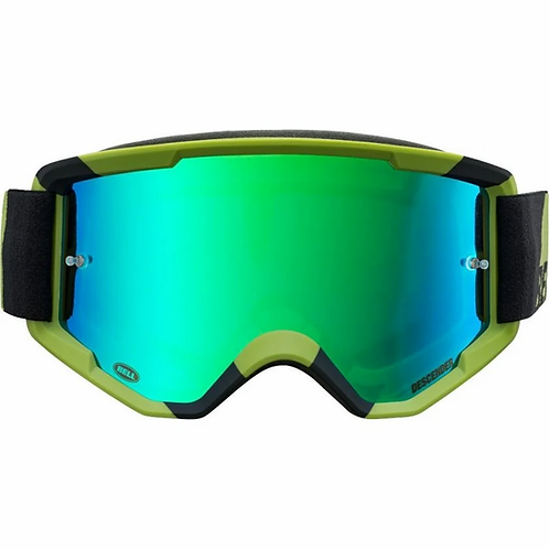 Bell Descender CrossBones MTB Goggles Green/Black with Revo Green Mirror Lens