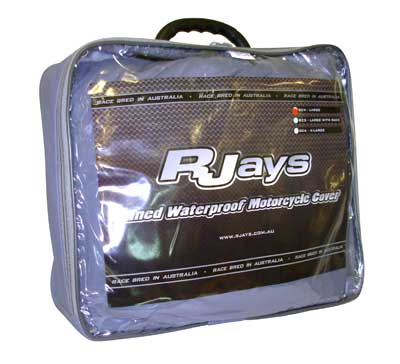 RJAYS LINED/WATERPROOF MOTORCYCLE COVER LG WITH RACK (240x120X145CM)