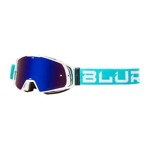 BLUR B-20 GOG FLAT - TEAL/WHITE RAD-BLUE