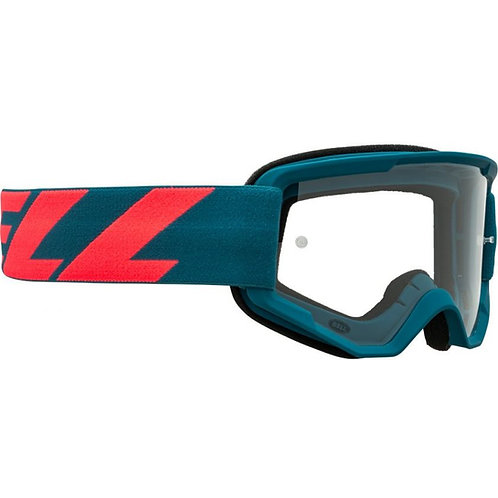Bell Descender Outbreak MTB Goggles Blue/Infrared with Clear Lens