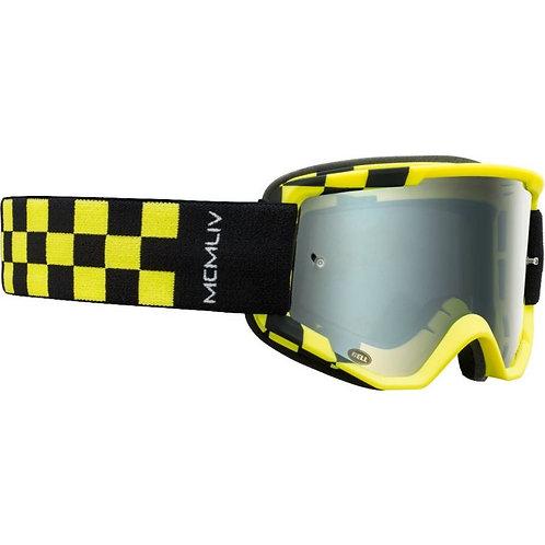 Bell Descender Podium MTB Goggles Hi-Viz Yellow/Black with Silver Mirror Lens