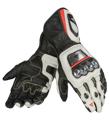 DAINESE FULL METAL RS GLOVES N32 NERO/BIANCO/ROSSO - FLUO