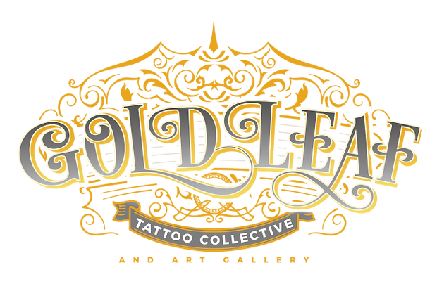 Gold Leaf Tattoo Collective and Art Gallery Logo
