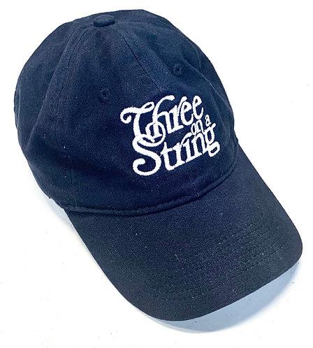 Three on a String Logo Navy Ballcap