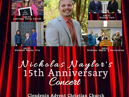 You're Invited! Nicholas Naylor's 15th Anniversary Concert 2020