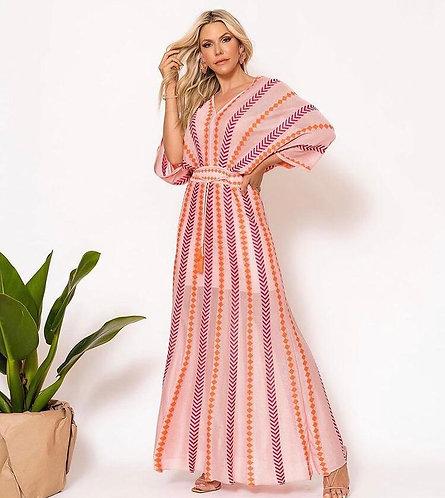 Vestido Kimono Rayon Jacard (G)