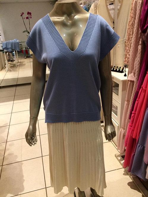 Blusa Tricô Decote V (M)