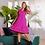 Thumbnail: Vestido com detalhes em renda rosa (P)