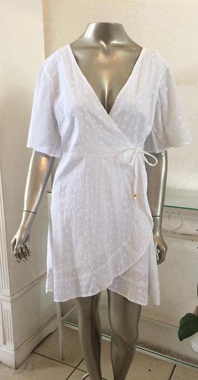 Saída túnica transpassada laise (G)