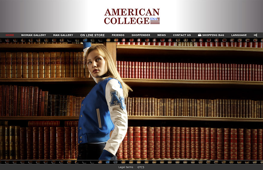 site e-commerce American College USA - h