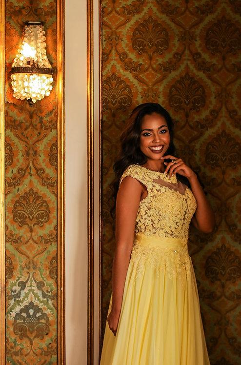 Vestido Longo amarelo (M)