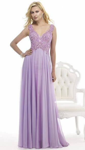 Vestido Longo lilás top renda bordada (M)