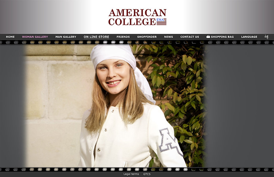 site e-commerce American College USA - G