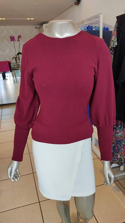 Blusa tricô botão no punho (M)