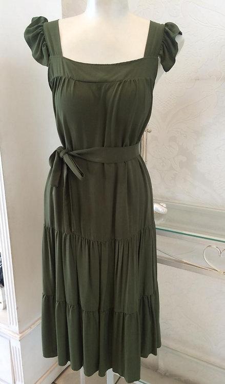 Vestido curto verde musgo (G)