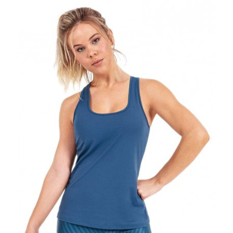 Regata skin fit costas nadador azul (G)