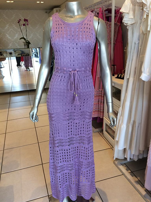 Vestido Tricô Crochê Longo (M)