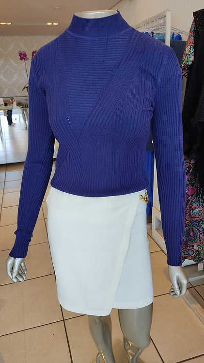 Blusa tricô canelada (M)