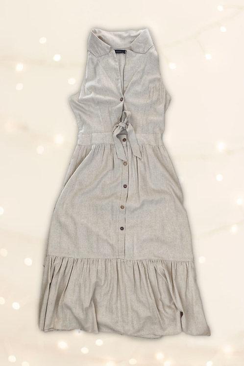Vestido Linho Gola P