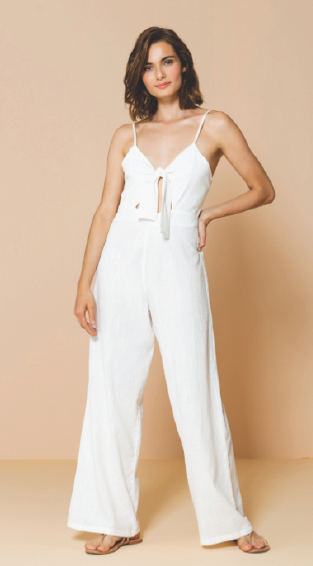 LONG JUMPSUIT PALMTREE BRANCO (P/M)