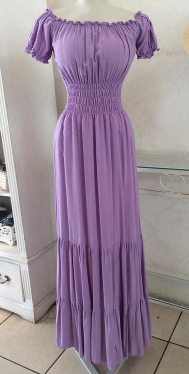 Vestido ciganinha longo lilás (Tamanho único)