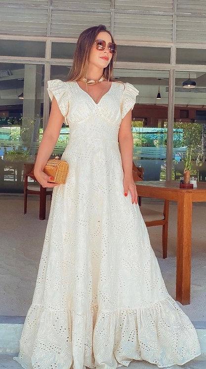 Vestido longo rendado (M)