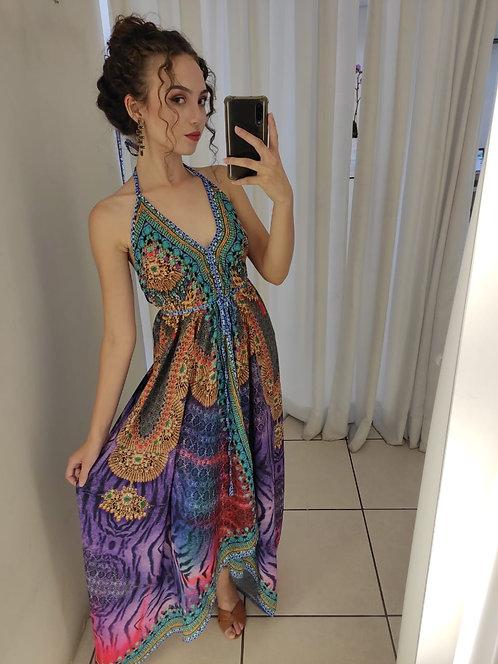 Vestido estampado seda (G)