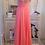 Thumbnail: Vestido longo coral tule bordado (P)