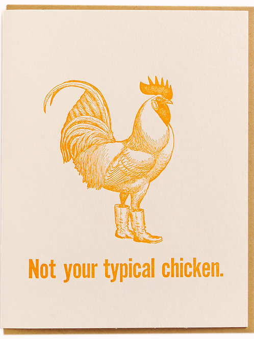 Not Your Typical Chicken Card