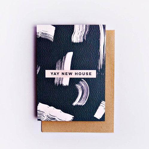 Yay New House Shadow Brush Card