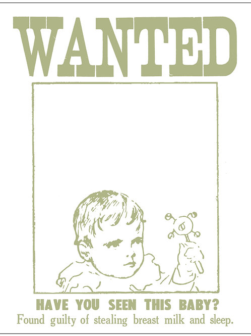 Wanted! Have You Seen this Baby? Card