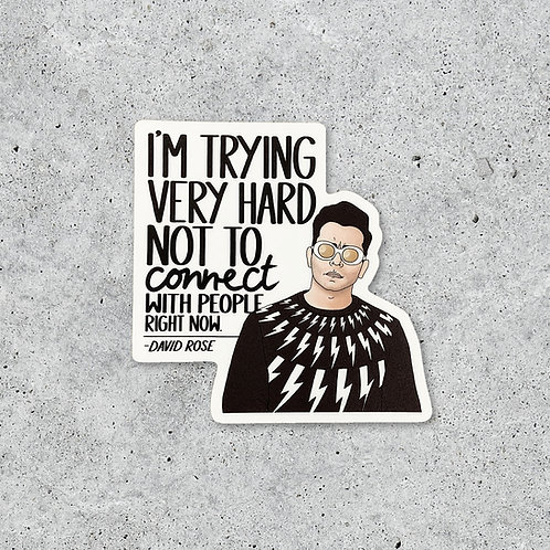 Schitt's Creek David Connect Sticker