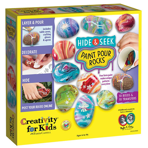 Hide and Seek Paint Pour Rocks Kit