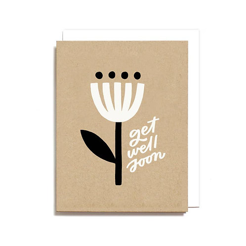 Get Well Soon Minimal Flower Card