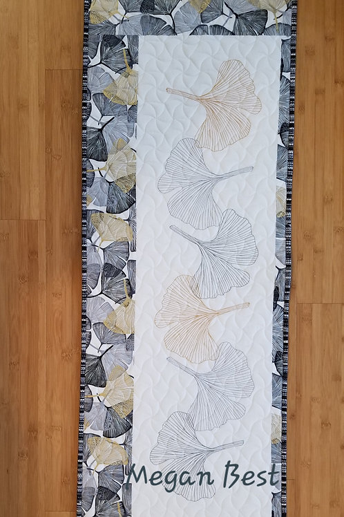 Ginkgo  Embroidered Quilt