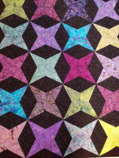 Black batik Stars